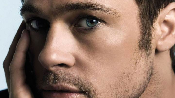 Brad Pitt Ultra Face Closeup Photoshoot
